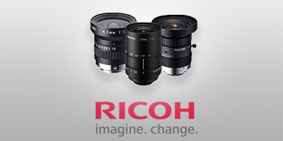 New Ricoh F Mount Machine Vision Camera Lenses for Industrial Inspection