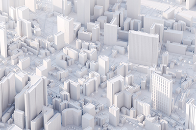 a 3D mapping of a city