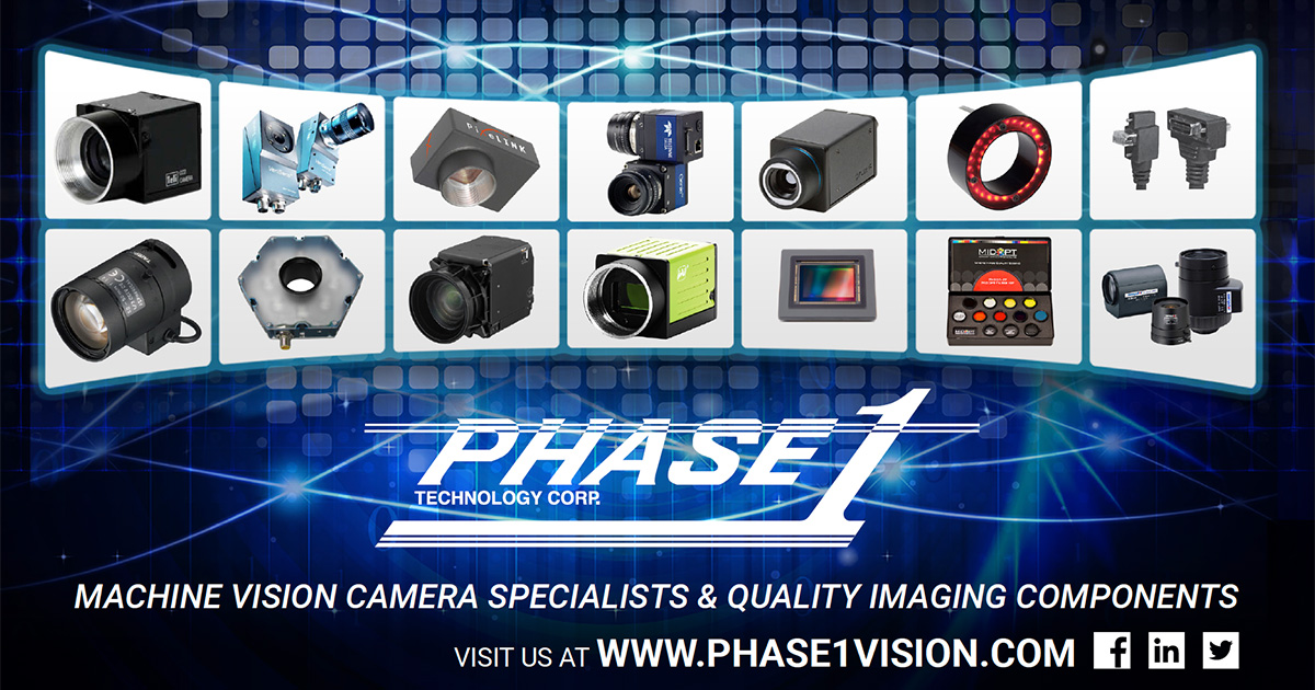 Machine Vision Cameras and Components, Fully Stocked | Phase 1