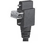 RJ45 Vertical R/A DOWN W/Recessed Screws