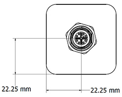 Diagram of CEI 29mm-IP67 Series Square Camera Enclosure