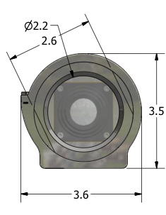 Diagram of CEI Stainless Series Camera Enclosure